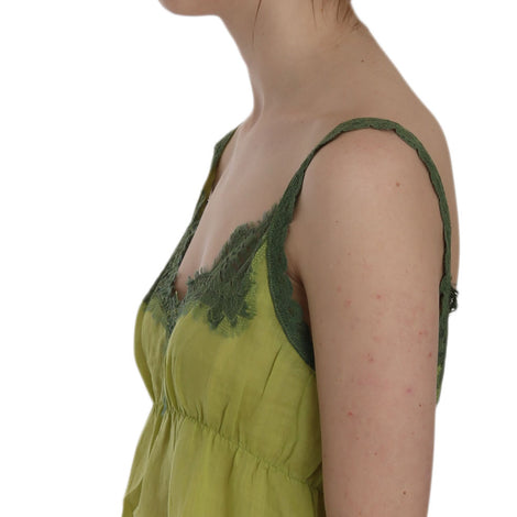Green Lace Spaghetti Strap Tank Top Blouse - Women - Apparel - Shirts - Blouses - PINK MEMORIES | Gethuda Fashion
