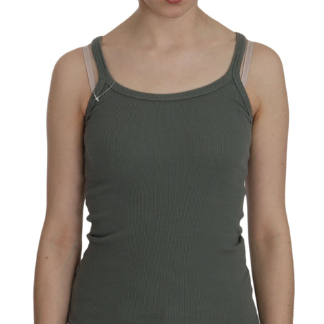 Green Spaghetti Strap Slim Fit Casual Tank Top Blouse - Women - Apparel - Shirts - Blouses - PINK MEMORIES | Gethuda Fashion