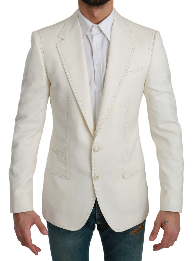 SICILIA Cream Single Breasted Formal Blazer