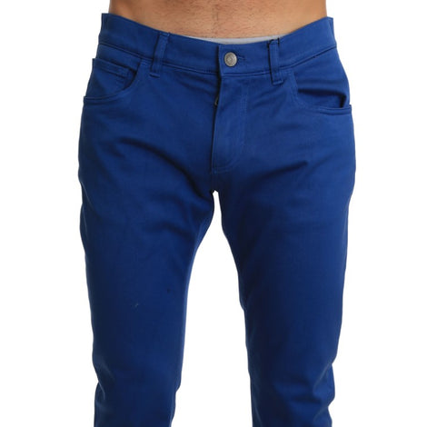 Dolce & Gabbana Blue Denim Classic Stretch Slim Fit Jeans