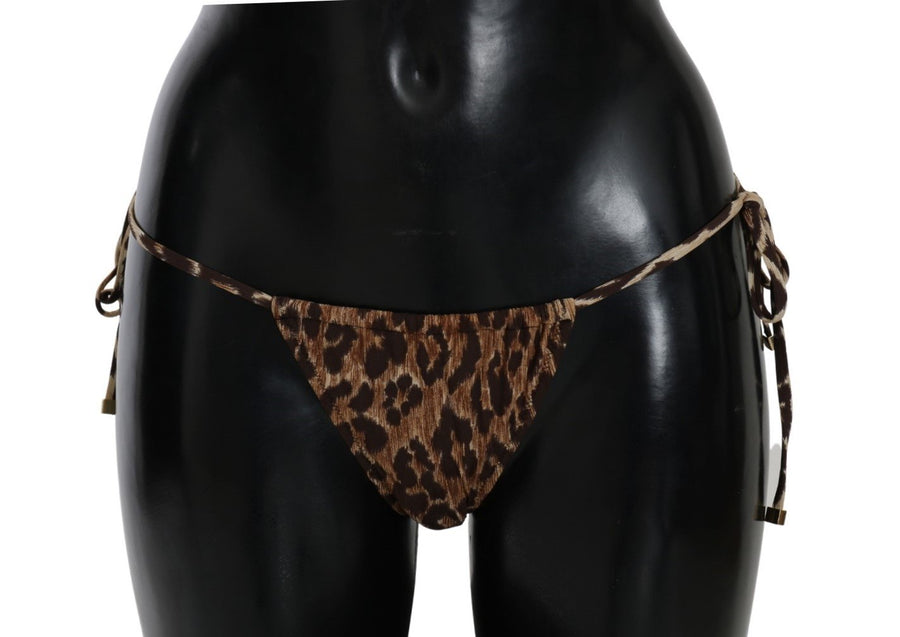 Brown Leopard Swimsuit Bottom Bikini Beachwear