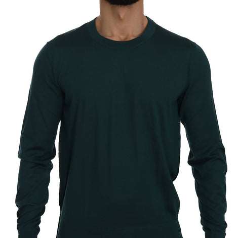 Dolce & Gabbana Green Cashmere Crewneck Pullover Sweater - Men - Apparel - Sweaters - Pull Over - Dolce & Gabbana | Gethuda Fashion