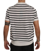 Dolce & Gabbana Crewneck Stripes Cashmere Mens T-shirt - Men - Apparel - Shirts - T Shirts - Dolce & Gabbana | Gethuda Fashion