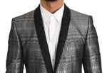 Dolce & Gabbana Silver Gray Shiny GOLD 2 Piece Slim Suit - Men - Apparel - Suits - Classic - Dolce & Gabbana | Gethuda Fashion