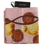 Dolce & Gabbana Pink Baby Chick Tassel Silk Square Scarf - Women - Accessories - Scarves - Dolce & Gabbana | Gethuda Fashion