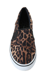 Dolce & Gabbana Brown Leopard Canvas Loafers - Men - Shoes - Loafers Drivers - Dolce & Gabbana | Gethuda Fashion