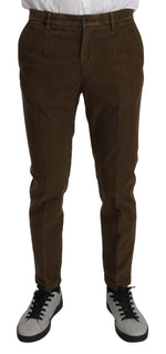 Brown Casual Mens Trouser Cotton Pants