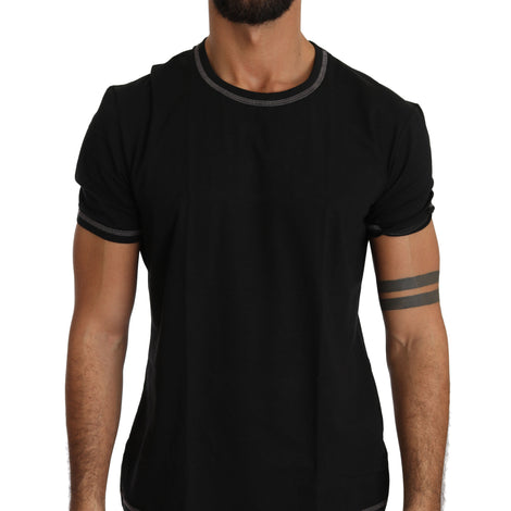 Dolce & Gabbana Black Cotton Stretch Underwear T-shirt