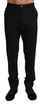 Black Formal Dress Trouser Virgin Wool Pants
