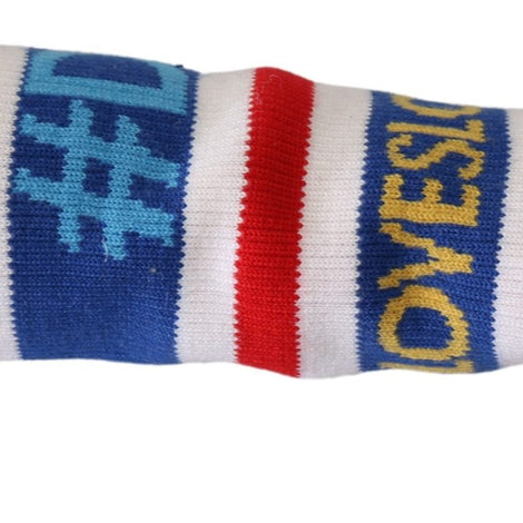 Blue Red 1 PSC Wool Arm Warmer DG LOVE Gloves