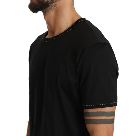 Dolce & Gabbana Black Cotton Crewneck Underwear T-shirt