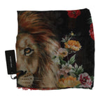 Dolce & Gabbana Multicolor Floral LION Silk Cashmere Square Scarf - Women - Accessories - Scarves - Dolce & Gabbana | Gethuda Fashion