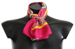 Pink Multicolor Square Silk Wrap Shawl - Women - Accessories - Scarves - Dolce & Gabbana | Gethuda Fashion