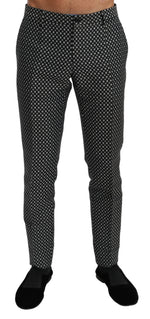 Black Fantasy Dress Slim Trouser Pants