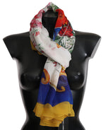 Dolce & Gabbana Multicolor MIAMI USA Print Cotton Shawl - Women - Accessories - Scarves - Dolce & Gabbana | Gethuda Fashion