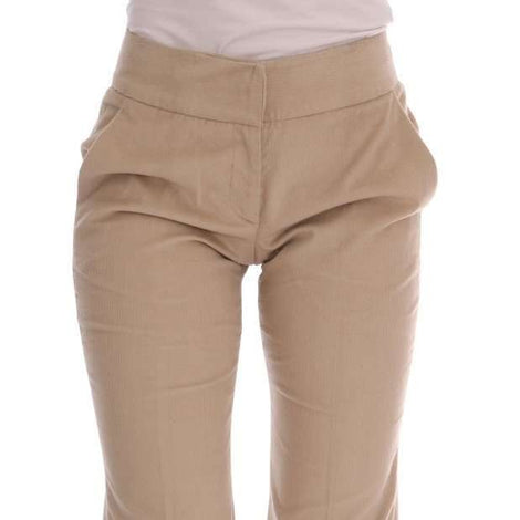 Beige Cotton Bootcut Pants -  - Ermanno Scervino | Gethuda Fashion