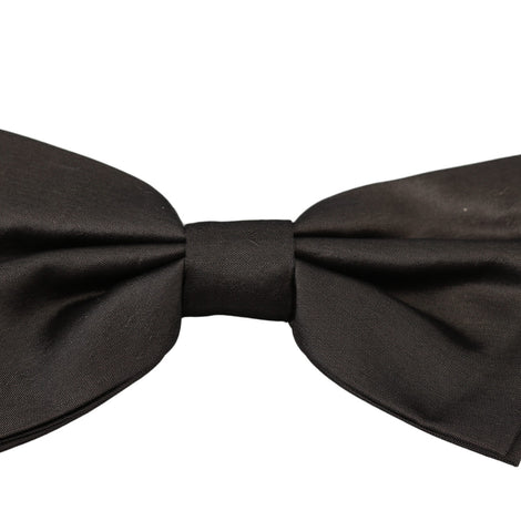 Dolce & Gabbana Gray 100% Silk Adjustable Neck Butterfly Men Bow Tie