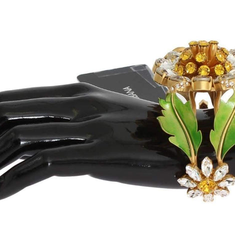 Dolce & Gabbana Gold MARHERITE Crystal Sunflower Bangle Bracelet