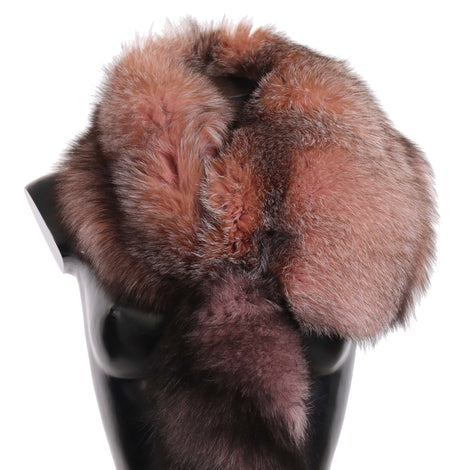 Dolce & Gabbana Pink Fox Tail Fur Shawl Neck Wrap Cover Pink White Collar Scarf - Women - Accessories - Scarves - Dolce & Gabbana | Gethuda Fashion