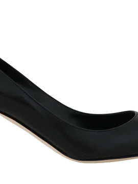 Dolce & Gabbana Black Soft Nappa Leather Pumps