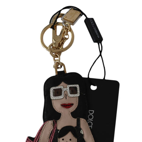 Dolce & Gabbana Leather MAMMA Mother Son Family Clasp Keyring Keychain