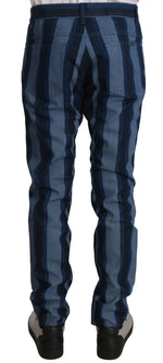 Dolce & Gabbana Blue 16CLASSIC Stripe Denim Trousers Pants - Men - Apparel - Trousers - Dolce & Gabbana | Gethuda Fashion