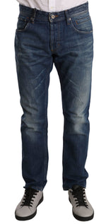 Dolce & Gabbana Blue Cotton Regular Fit Pants Jeans - Men - Apparel - Trousers - Dolce & Gabbana | Gethuda Fashion