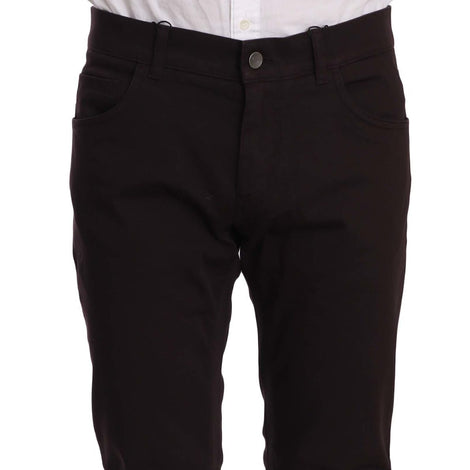 Dolce & Gabbana Purple Cotton Stretch Comfort Fit Pants Jeans - Men - Apparel - Trousers - Dolce & Gabbana | Gethuda Fashion