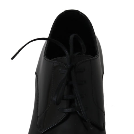 Dolce & Gabbana Black Leather Derby James Bond Shoes - Men - Shoes - Oxfords - Dolce & Gabbana | Gethuda Fashion