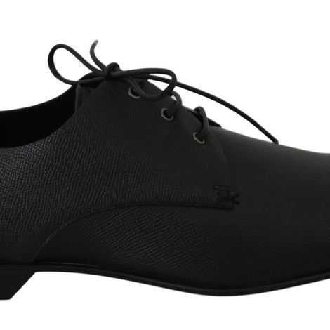 Dolce & Gabbana Black Leather Derby Dress Formal Mens Shoes