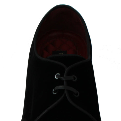 Dolce & Gabbana Black Velvet Derby Dress Formal Shoes - Men - Shoes - Oxfords - Dolce & Gabbana | Gethuda Fashion