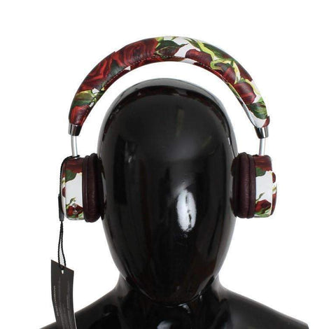 Dolce & Gabbana Roses Print Wireless Leather Headphone -  - Dolce & Gabbana | Gethuda Fashion