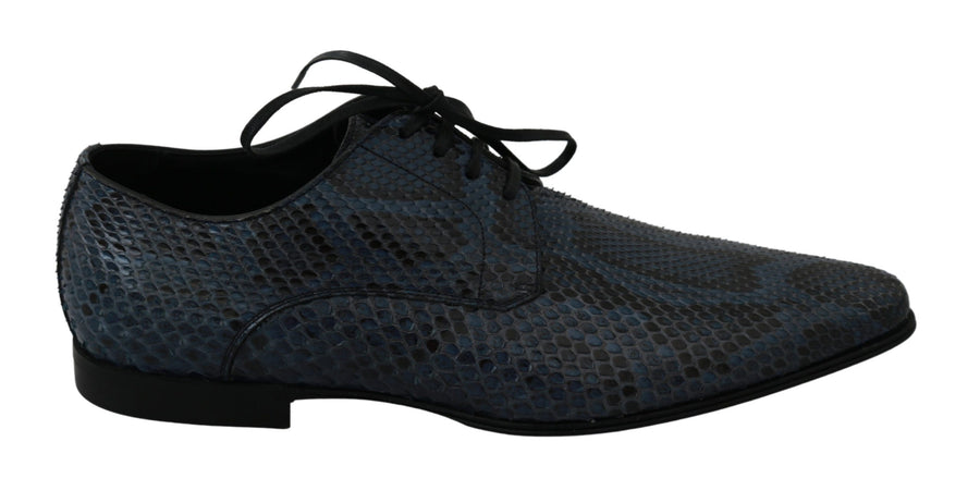 Blue Python Leather Snakeskin Dress Shoes