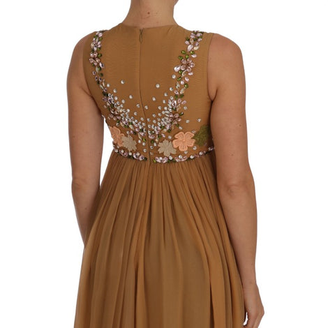 Dolce & Gabbana Crystal Silk Gold A-Line Gown Dress - Women - Apparel - Dresses - Casual - Dolce & Gabbana | Gethuda Fashion