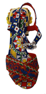Dolce & Gabbana Multicolor Carretto Embellished Sandals Shoes - Women - Shoes - Sandals - Dolce & Gabbana | Gethuda Fashion