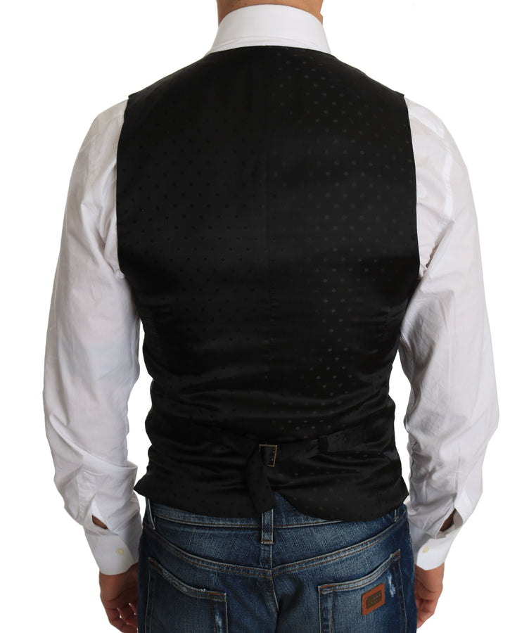 Dolce & Gabbana Black Wool Dress Waistcoat - Men - Apparel - Suits - Vest - Dolce & Gabbana | Gethuda Fashion