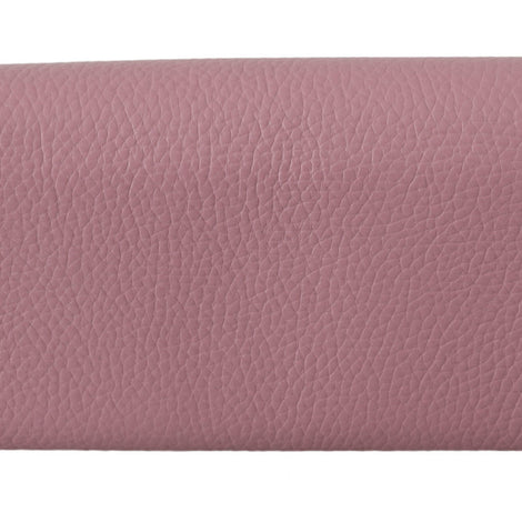 Dolce & Gabbana Pink Leather Bifold Continental Clutch Wallet