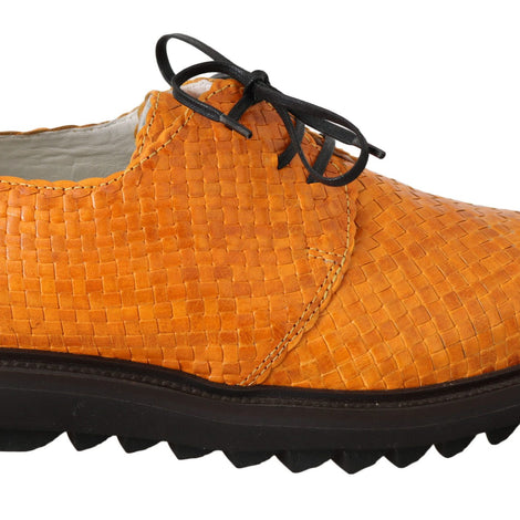 Dolce & Gabbana Yellow Woven Buffalo Leather Dress Shoes - Men - Shoes - Oxfords - Dolce & Gabbana | Gethuda Fashion