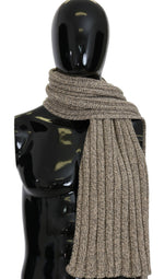 Dolce & Gabbana Beige Cashmere Knitted Wrap Shawl Scarf - Women - Accessories - Scarves - Dolce & Gabbana | Gethuda Fashion