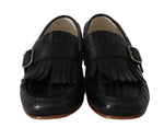 Dolce & Gabbana Black Leather Loafers Moccasin Slides - Men - Shoes - Loafers Drivers - Dolce & Gabbana | Gethuda Fashion