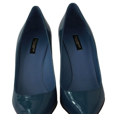 Dolce & Gabbana Blue Patent Leather Pumps Heels Shoes - Women - Shoes - Pumps - Dolce & Gabbana | Gethuda Fashion