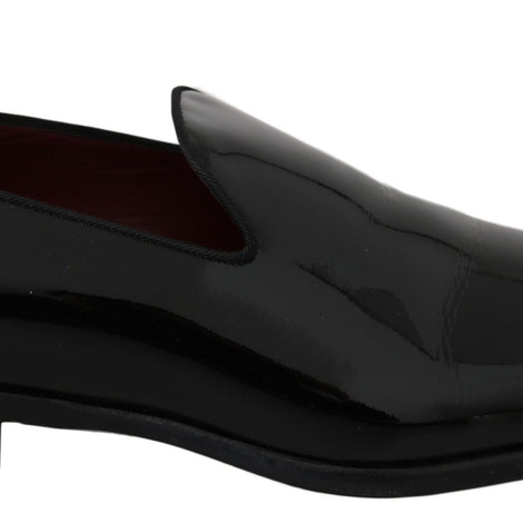 Dolce & Gabbana Black Patent Leather Loafers Dress Shoes - Men - Shoes - Loafers Drivers - Dolce & Gabbana | Gethuda Fashion