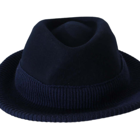 Dolce & Gabbana Gray Cotton Blend Fedora Trilby Cappelo Hat