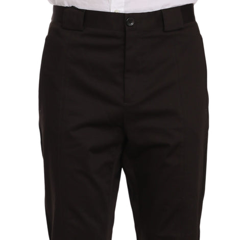 Dolce & Gabbana Purple Cotton Stretch Formal Trouser Pants