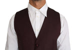 Purple Pattern Wool Silk Waistcoat Vest - Men - Apparel - Suits - Vest - Dolce & Gabbana | Gethuda Fashion