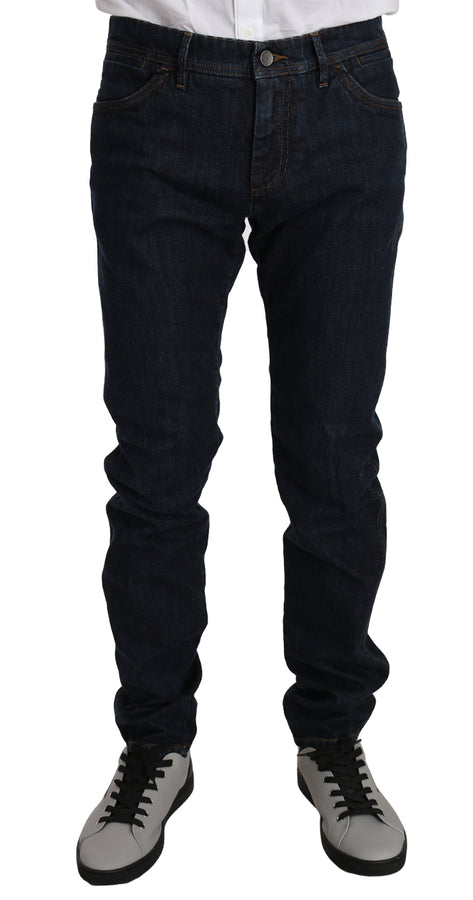 Dolce & Gabbana Blue Cotton CLASSIC Stretch Jeans - Men - Apparel - Denim - Jeans - Dolce & Gabbana | Gethuda Fashion