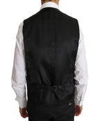 Dolce & Gabbana Black Solid Wool Stretch Waistcoat Vest - Men - Apparel - Suits - Vest - Dolce & Gabbana | Gethuda Fashion