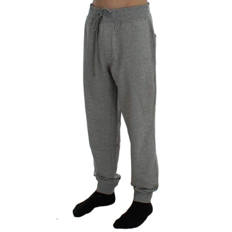 Gray Cotton Stretch Pants - Men - Apparel - Trousers - Aeronautica Militare | Gethuda Fashion