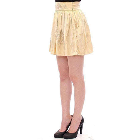 Beige Floral Embroidery Mini Skirt - Women - Apparel - Skirts - Knee Length - Andrea Incontri | Gethuda Fashion