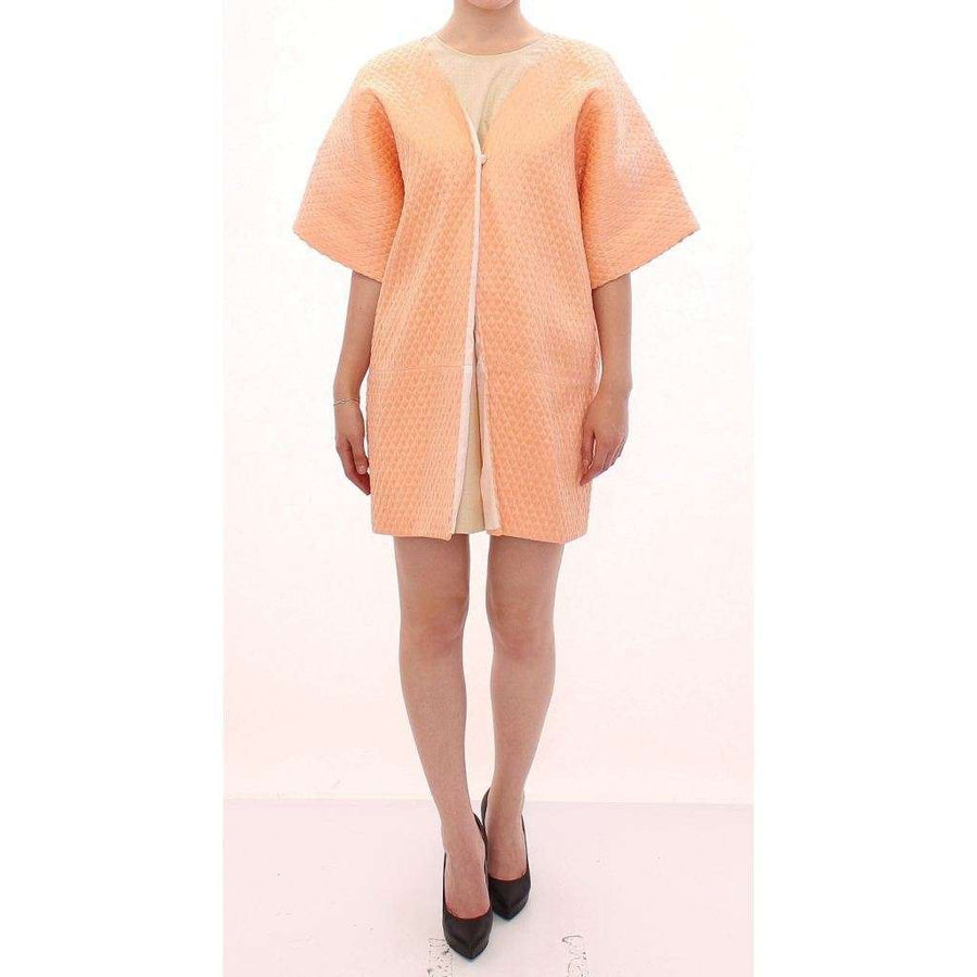Pink Short Sleeves Jacket Coat - Women - Apparel - Outerwear - Jackets - Andrea Incontri | Gethuda Fashion